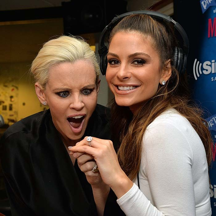 Jenny McCarthy was left speechless after Maria Menounos showed off her new engagement ring given to her by her longtime boyfriend Keven Undergaro. 