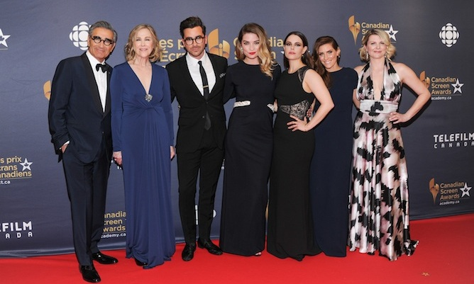 The cast of <i>Schitt's Creek</i>.