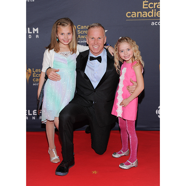 Gerry Dee and his daughters.