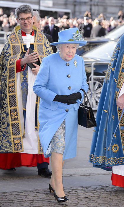 All eyes were on the Queen, who is head of the Commonwealth.