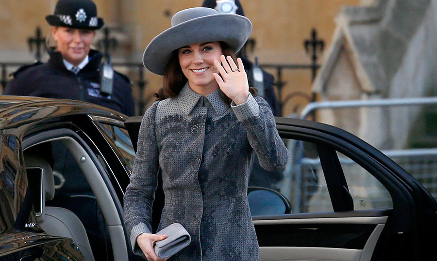 The Duchess wore a hat by John Boyd.