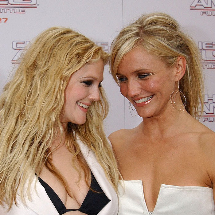 <h2>DREW BARRYMORE AND CAMERON DIAZ