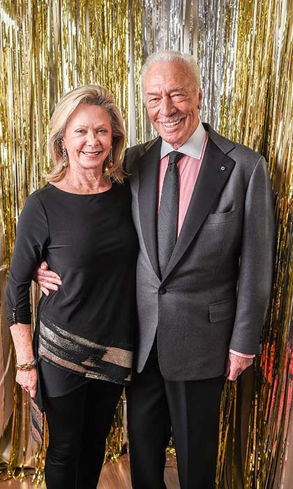 <em>Remember</em> nominee Christopher Plummer and wife Elaine Taylor. 