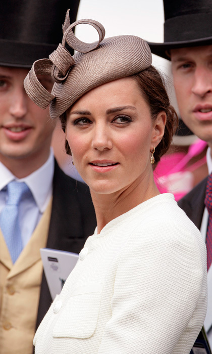 Newlywed Kate was already a hat pro by June 2011's Epsom Derby, where she sported a straw pillbox-inspired cap designed by the Whiteley Hat Company.