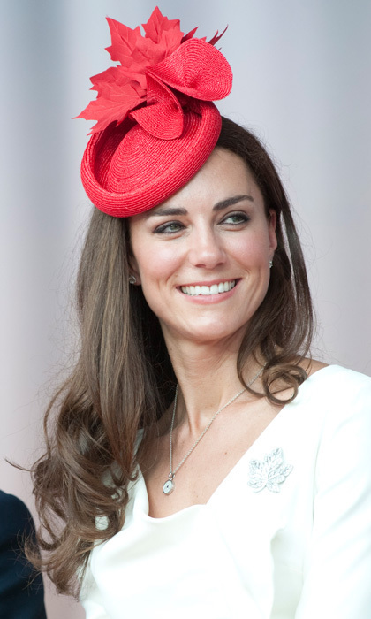 The Duchess delighted her fans when she attended Canada Day celebrations on Parliament Hill wearing a custom-made, maple leaf fascinator.