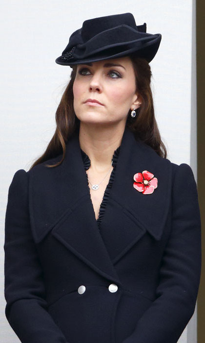 For the Remembrance Sunday events in 2014, Kate paid her respect by wearing all black - including this hat by Jane Corbett.