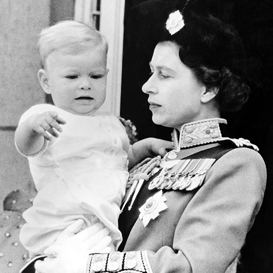 24. With the birth of Prince Andrew in 1960, the Queen became the first reigning sovereign to bear a child since Queen Victoria, who gave birth to her youngest child, Princess Beatrice, in 1857.