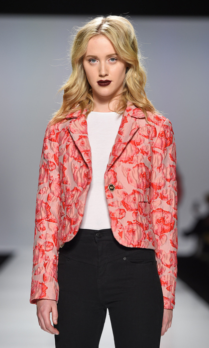 "Sophie already <a href=""http://ca.hellomagazine.com/fashion/02016031024303/sophie-gregoire-trudeaus-best-style-moments/4/"">wore a jacket by up-and-coming designer Ellie May in Washington</a>, and we can see the mother of three diving into plenty more from the Toronto label's latest collection, from Chanel-worthy creations to this cropped floral blazer.