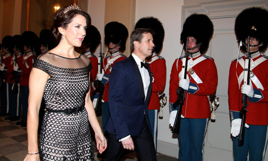 Princess Mary of Denmark showed off her glittering tiara at the gala dinner.