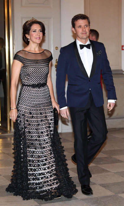 Mary arrives with her husband Prince Frederik.
