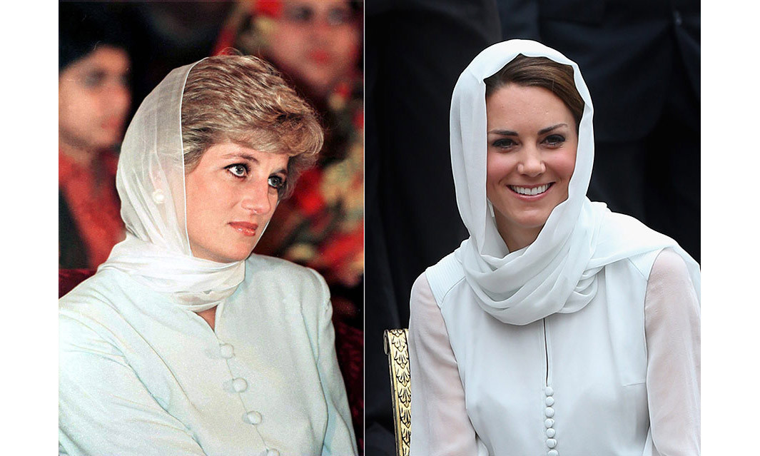 <p>Kate drew comparisons to Diana in her tour outfits