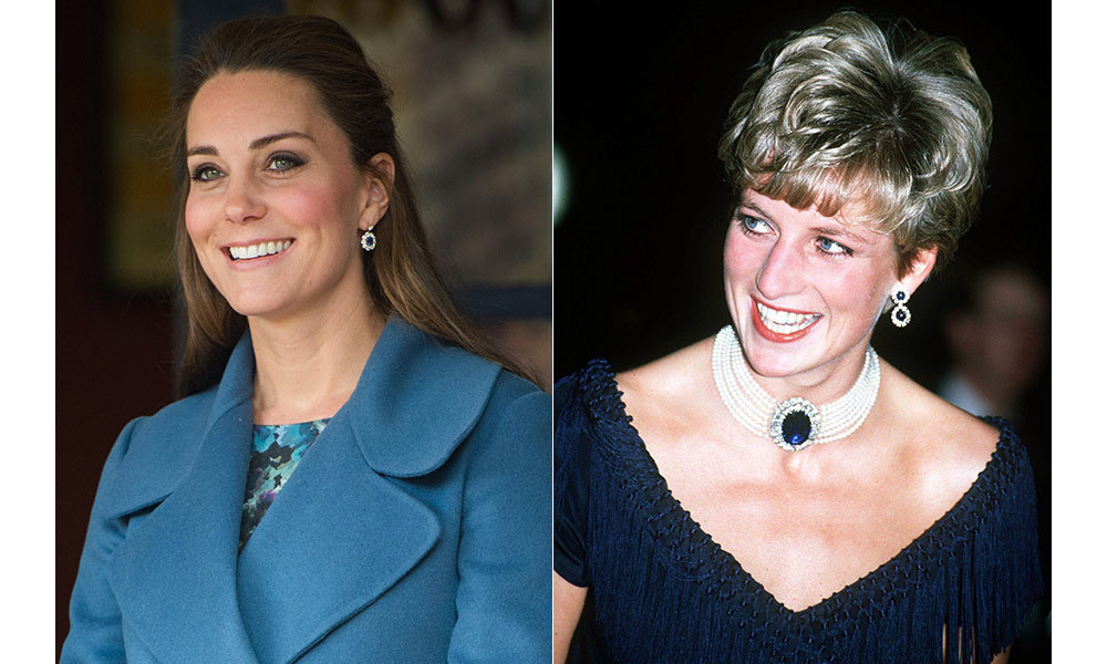<strong>Kate pays tribute to Diana with her jewellery