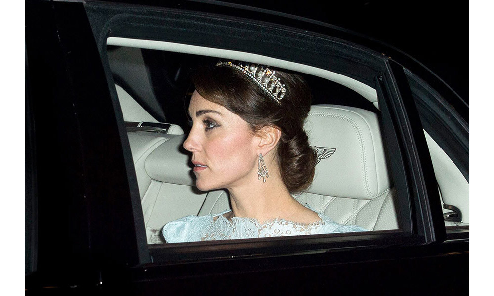 <strong>Kate has worn Diana's favourite tiara for special occasions