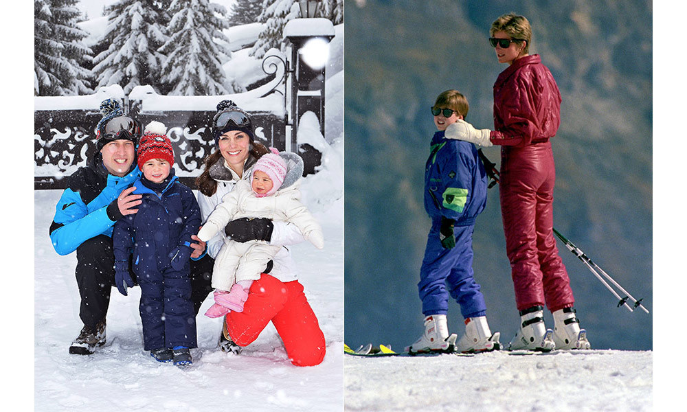 <strong>Kate hits the slopes with her children like Diana