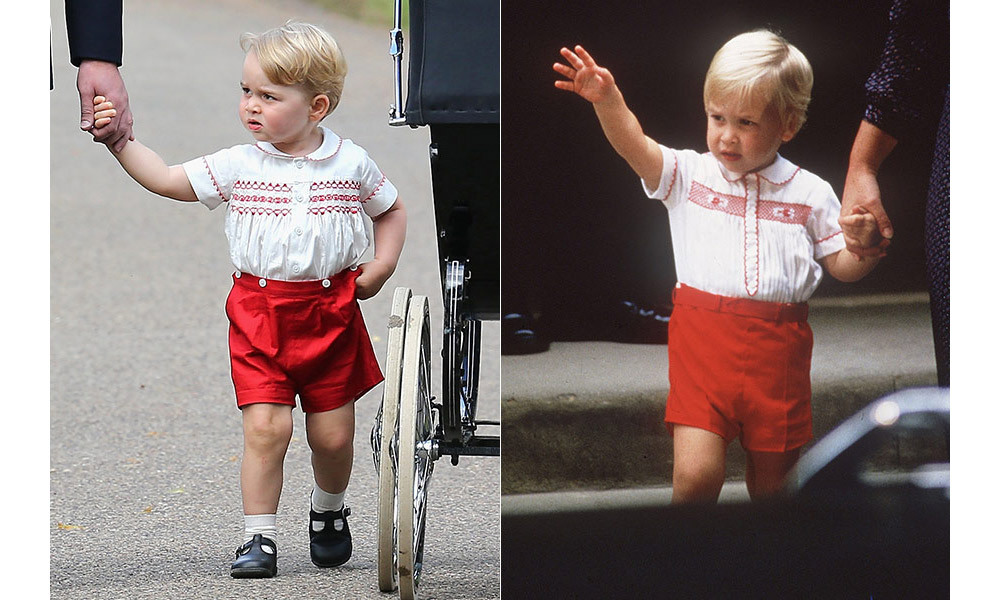 <strong>Kate takes style inspiration for her children from Diana