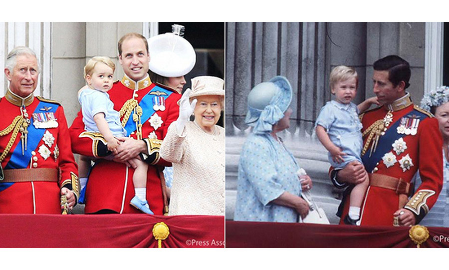 <p>This wasn't the first time George had drawn comparisons to his father William. A month earlier in June at the traditional Trooping the Colour ceremony, George wore the exact same pale blue outfit that his dad William wore back in 1984 for the Queen's birthday.