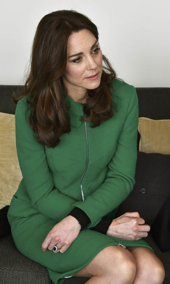 <p>Kate gave the same coat another outing this March when she and Prince William visited organizations dedicated to suicide prevention.</p>