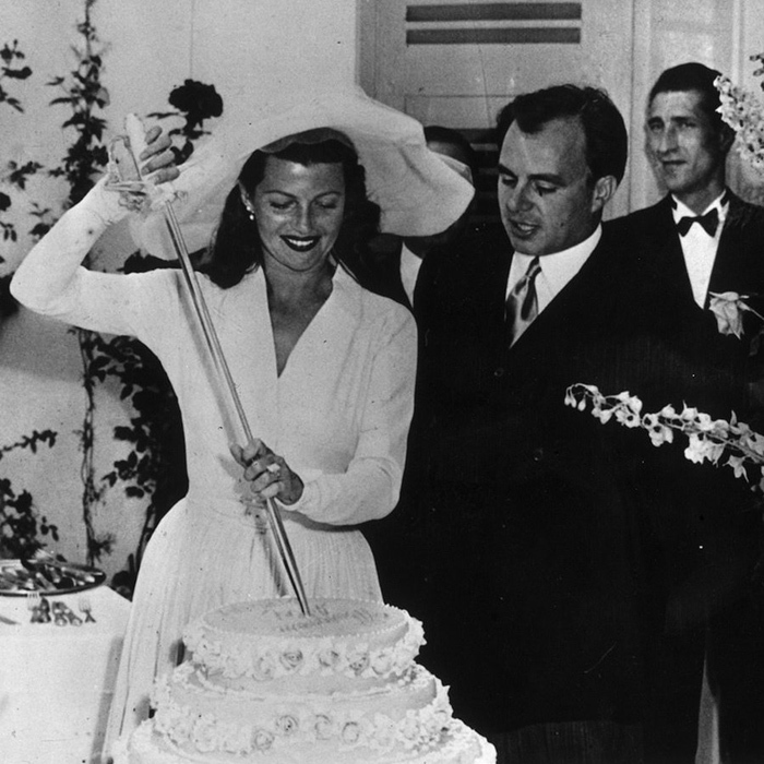 <p>This didn't stop her from moving into the society's highest echelons. Emerging from the ruins of her marriage to Welles in 1948, Rita met her Prince, Aly Salman Agha Khan, at a party on the French Riviera.