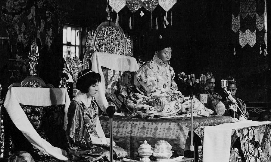 "<p>When Hope met Palden Thondup Namgyal, she was taking a typing course in Darjeeling. In her book, she remarks on his ""Chaplinesque loneliness,"" which seduced her into marrying him in 1963. After the wedding, Hope threw herself into the role of mother to the King's three orphaned children, reasoning, ""These children will be happy. The wheel of unhappiness that both my husband and I grew up on will not go to this generation.""