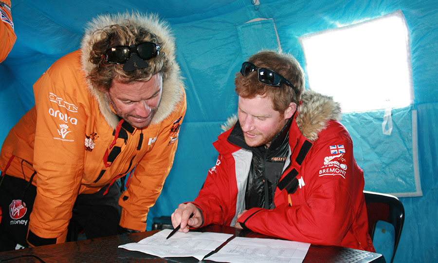 <p>Prince Harry, who was patron of Team UK in the Virgin Money South Pole Allied Challenge 2013 expedition, joined Dominic West to review plans for the Antarctic trek.