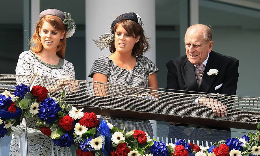 Princess Beatrice and Eugenie with their 'grandpa' Prince Philip.