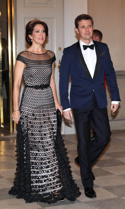 Crown Princess Mary of Denmark with her husband Prince Frederik.