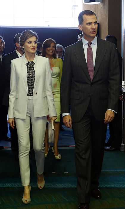 Queen Letizia of Spain with her husband King Felipe.