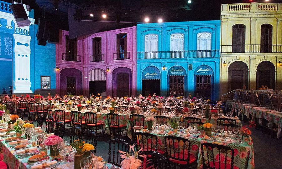 It was decorated in bright and exotic Cuban colours, making it the perfect setting for an exceptionally magical evening.