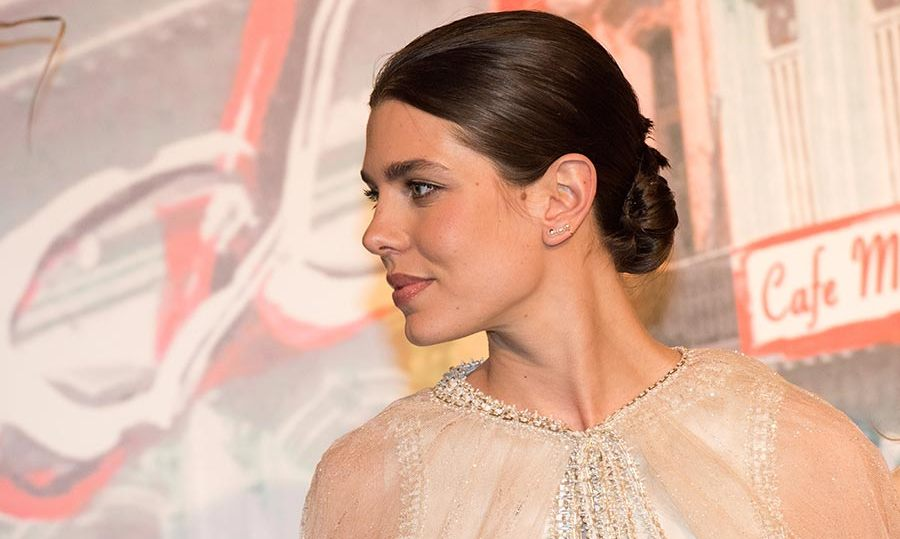 Charlotte Casiraghi wore her hair up in a chic chignon.