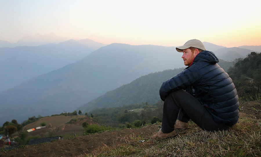 Harry spent the previous night with a Nepalese family, and woke early to watch the sunrise.