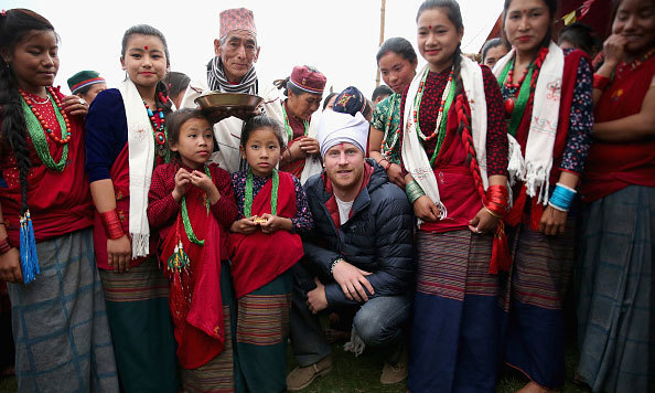 Prince Harry was honored as 'village head man' as he met with Leorani villagers in the Himalayan foothills.
