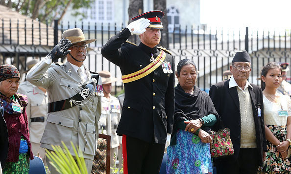 "Prince Harry laid a wreath during a remembrance service at the British Gurkha Camp in Pokora. The card read: ""With the deepest admiration, respect and gratitude. Your sacrifice will never be forgotten. Hardick Sradhanjali (Heartfelt condolences).""