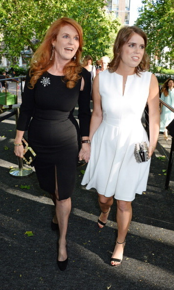 Sarah, Duchess of York and Eugenie proved to be a stylish mother-daughter pair at the Art Antiques London Gala Evening in aid of Children In Crisis held at Kensington Gardens.