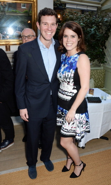 For date night with her longtime beau Jack Brooksbank, the stylish princess opted for a sleeveless, printed dress.