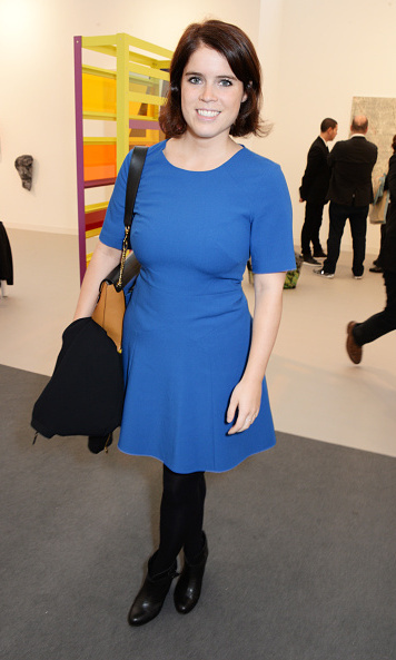 Nothing blue about her look! The British royal was vibrant in a bright frock back in 2014 during a preview of the Frieze Art Fair.