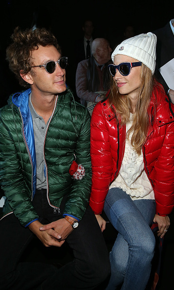 The cool couple showed off their sporty side at the Moncler Gamme Rouge show during Paris Fashion Week Womenswear Fall/Winter 2015/2016.