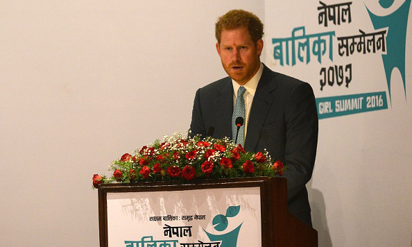 Prince Harry spoke during the 2016 Nepal Girls Summit.