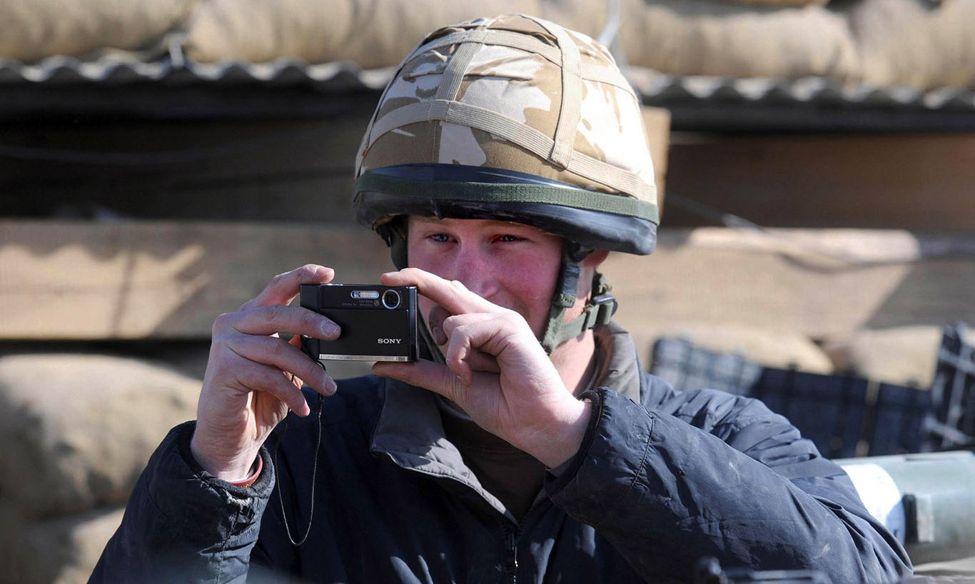 February 2008: The prince got his camera out for a snapshot, again in Afghanistan.