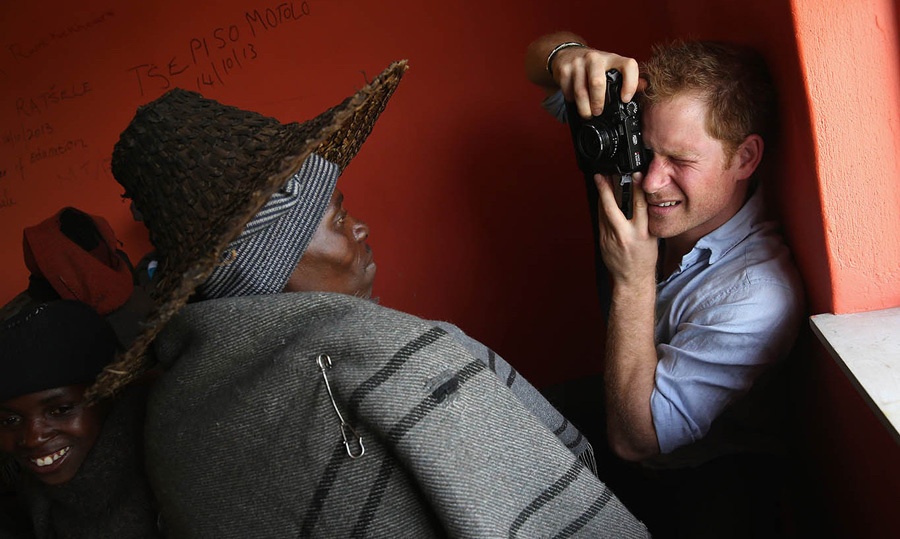 December 2014: Prince Harry captured images of the locals in Lesotho.