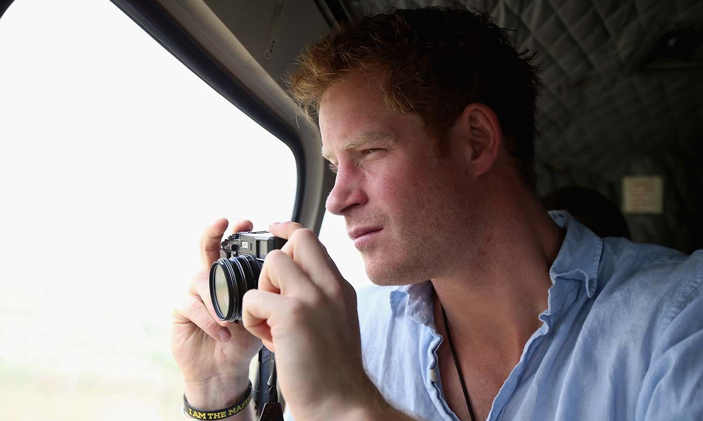 December 2014: Prince Harry turned his lens on to the horizon while inside an army helicopter in Lesotho.