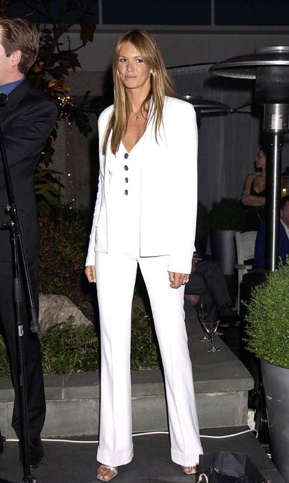 Rocking an all-white trouser suit to the Third Annual Sargent Cancer Care party.
