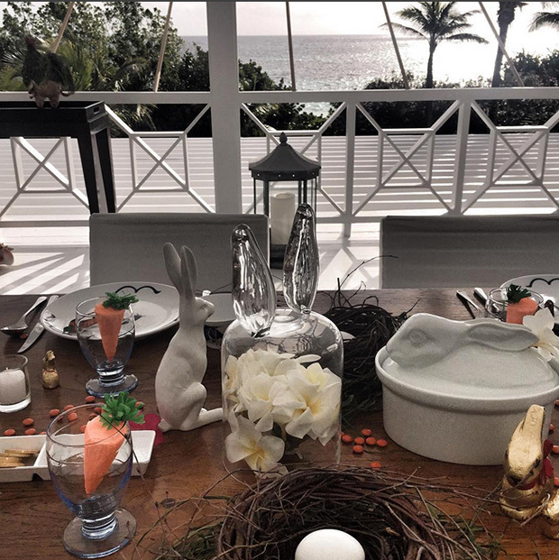 The family's Easter table. 