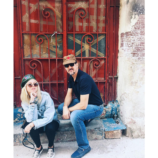 Princess Maria-Olympia and her father Prince Pavlos in Cuba. 