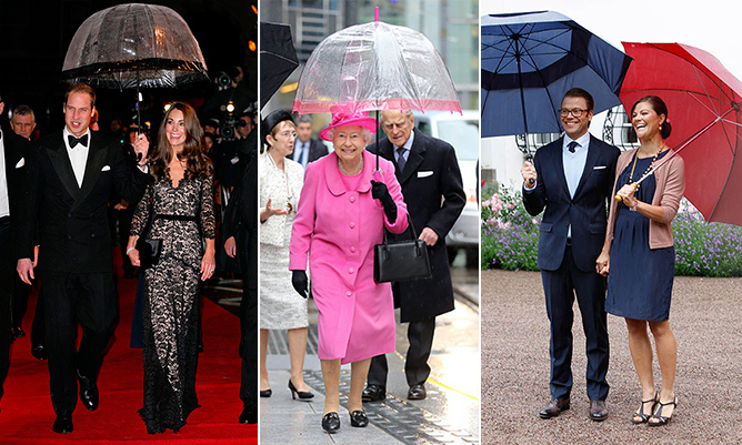 Come rain or shine, royals around the world carry out hundreds of engagements every year. And with some climates being partial to rain, (looking at you England!), umbrellas have become a must-have accessory. Queen Elizabeth has even commissioned custom brollies that match her colourful ensembles!