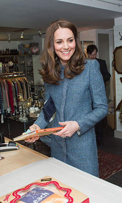 Kate visited an EACH charity shop last month where she picked up a <em>Fireman Sam's</em> book for Prince George.