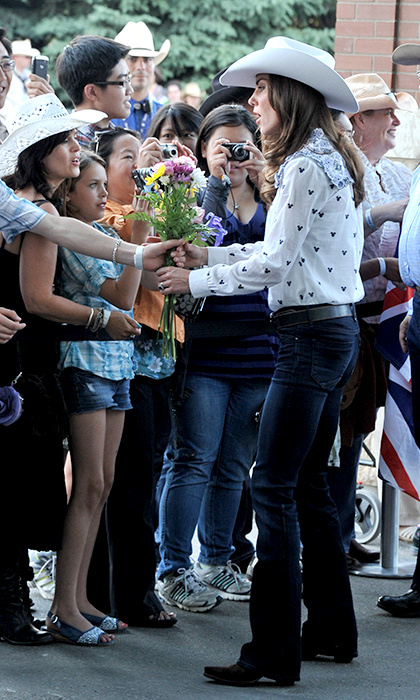 Kate fit right in with the crowds of cowboys and cowgirls at the 2011 Calgary Stampede.