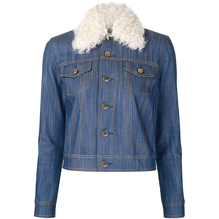 <strong>Derek Lam 10 Crosby Shearling Collar Denim Jacket</strong>, $595,
