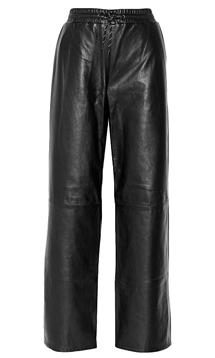 <strong>T by Alexander Wang Leather Wide Leg Pants</strong>, $500, 