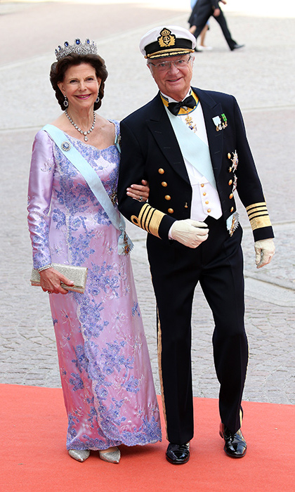Queen Silvia with King Carl XVI Gustaf.