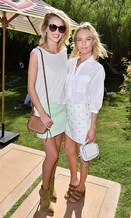 Rosie Huntington-Whiteley and Kate Bosworth kept things simple - but still looked amazing!